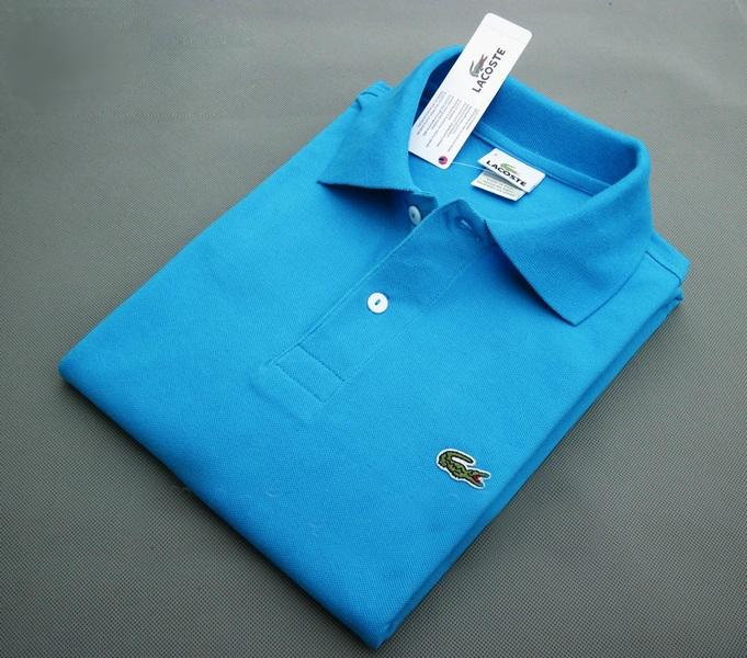 c7d9aebf2440a Женская рубашка футболка поло LACOSTE голубая.