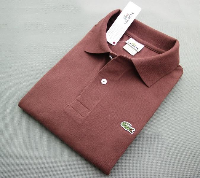 813e8abbc14a9 Мужская рубашка футболка поло LACOSTE коричневая.