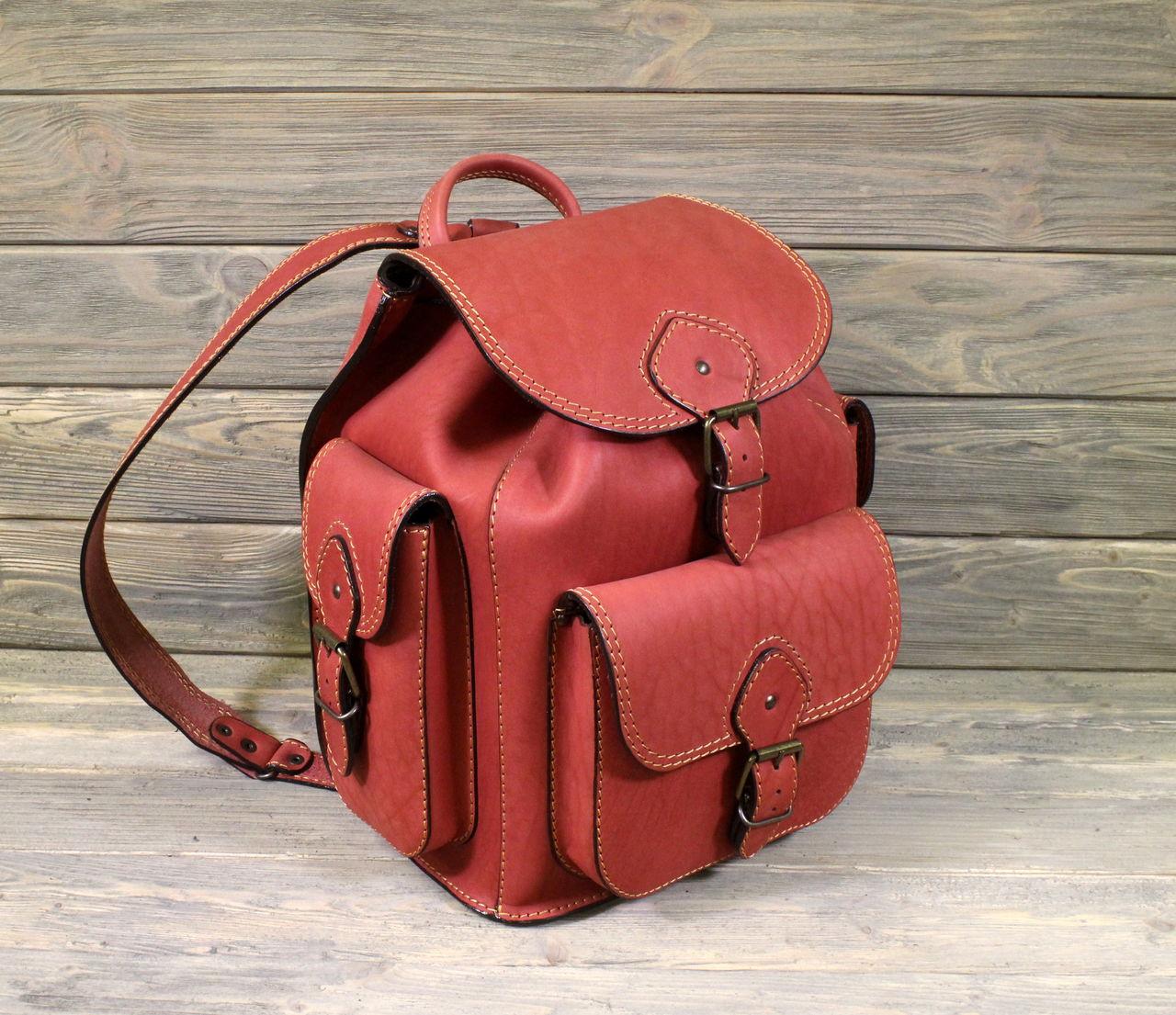 Рюкзак из натуральной кожи ручной работы 106