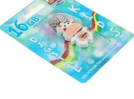 USB-флешка 16 Gb Mirex COW PEACH, коровка