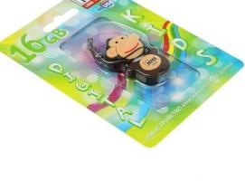 USB-флешка 16 Gb Mirex MONKEY BROWN, обезьянка