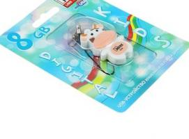 USB-флешка 8 Gb Mirex COW PEACH, коровка
